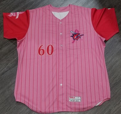 2012 Clearwater Threshers Pitch for Pink Game Day Jersey