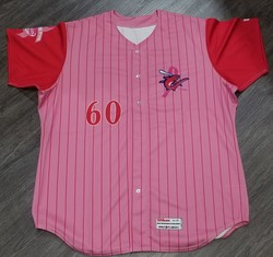 Photo of 2012 Clearwater Threshers Pitch for Pink Game Day Jersey