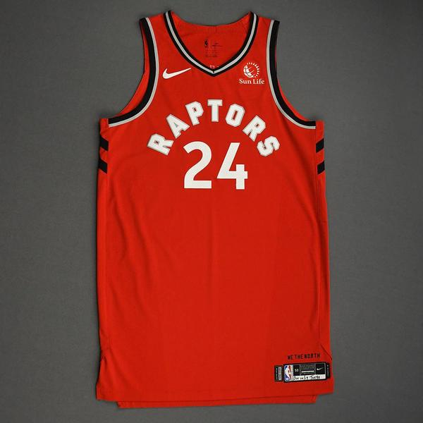 Image of Norman Powell - Toronto Raptors - Game-Worn Icon Edition Jersey - NBA Japan Games - Scored Team-High 22 Points - 2019-20 NBA Season