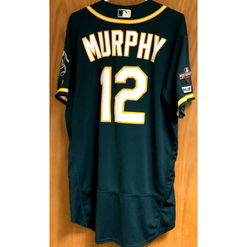 Photo of Game-Used Jersey - Sean Murphy HRs (2, 3 & 4) w/ 2019 Postseason Patch