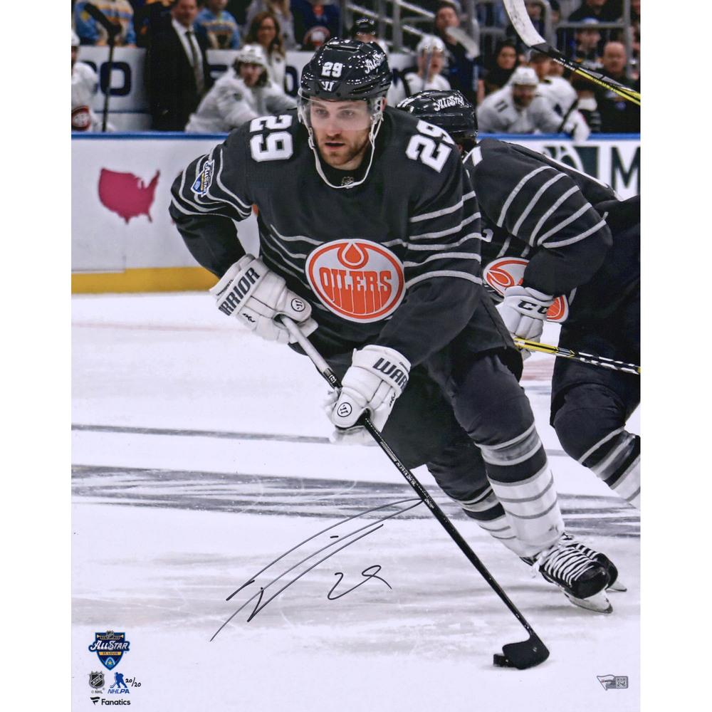 Leon Draisaitl Edmonton Oilers Autographed 16