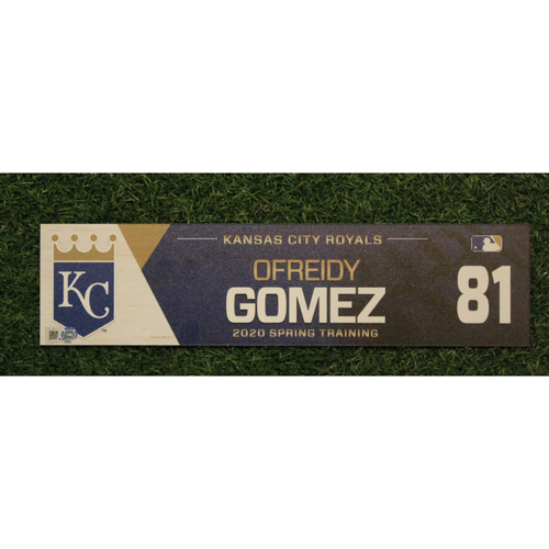 Photo of Game-Used Spring Training Locker Tag: Ofreidy Gomez #81