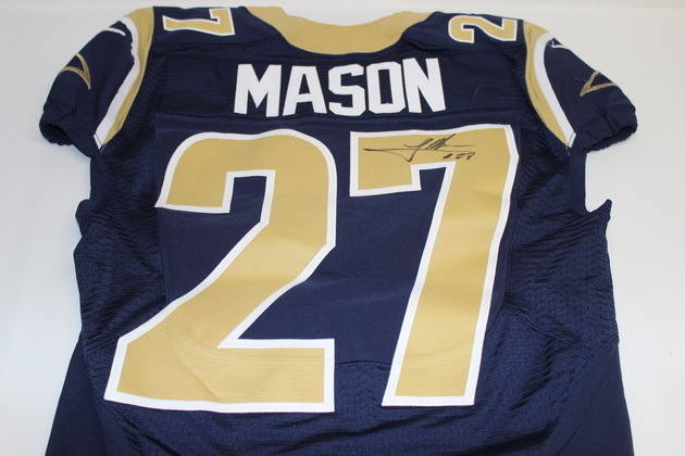 NFL Auction | RAMS TRE MASON SIGNED AND GAME WORN JERSEY (OCTOBER ...