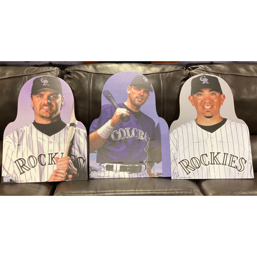 Photo of Colorado Rockies Foundation: NL All-Star Set: Larry Walker, Jeff Curillo, and Brian Fuentes.