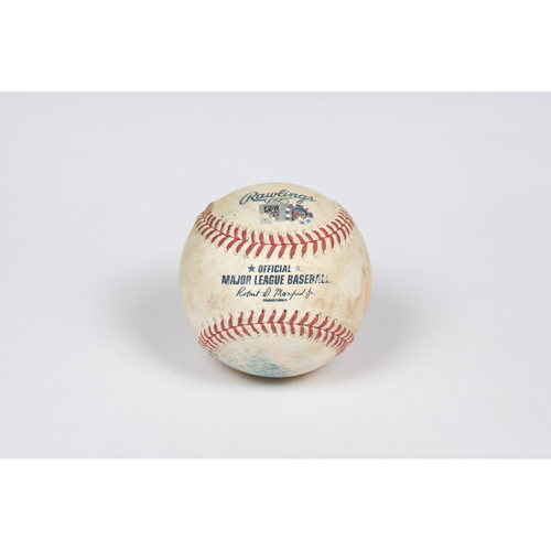 Photo of Game-Used Baseball: Pitcher: Felix Pena, Batters: Corey Seager/Justin Turner - Single/Double - Top 5 - 5/08/21 vs. LAD
