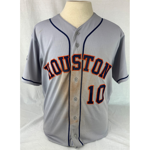Photo of Yuli Gurriel 2019 World Series Game-Used Jersey - Games 3 + 4