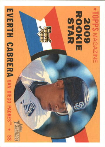 Photo of 2009 Topps Heritage #568 Everth Cabrera RC