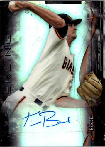 Photo of 2014 Bowman Sterling Prospect Autographs Refractors #BSPATB Tyler Beede