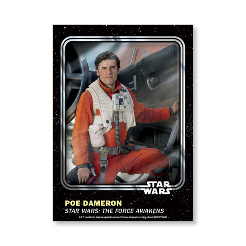 Poe Dameron 2016 Star Wars Card Trader Base Poster - # to 99
