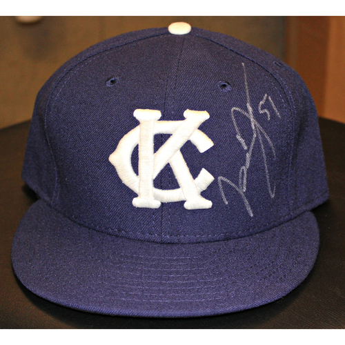 Jason Vargas Autographed Game-Used Cap - (May 17, 2015 - NYY at KC) (Size 7 3/8)