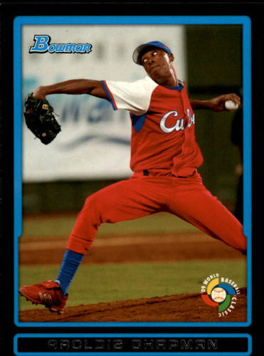 Photo of 2009 Bowman WBC Prospects #BW12 Aroldis Chapman Pre-rookie Card