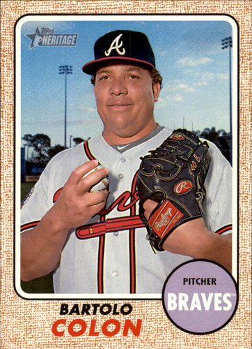Photo of 2017 Topps Heritage #282A Bartolo Colon