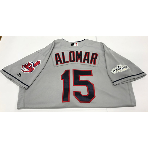 Photo of Sandy Alomar Team-Issued 2017 Postseason Road Jersey