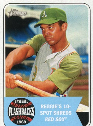 Photo of 2018 Topps Heritage Baseball Flashbacks #BFRJ Reggie Jackson