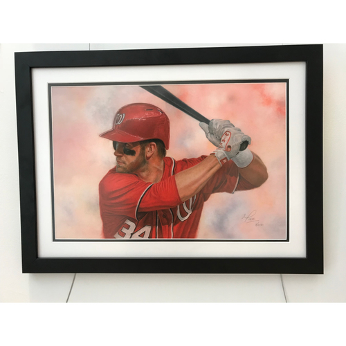 Photo of Bryce Harper - Limited Edition Framed Print by Mike Kupka - Washington Nationals
