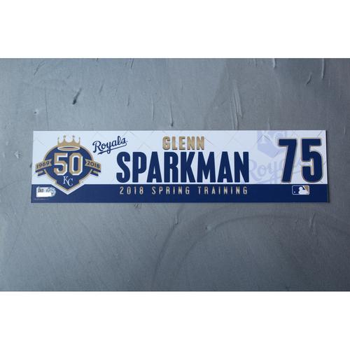 Photo of Spring Training Locker Nameplate: Glenn Sparkman