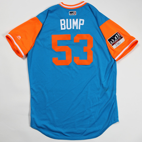 """Photo of Brett """"Bump"""" Graves Miami Marlins Game-Used Jersey 2018 Players' Weekend Jersey"""