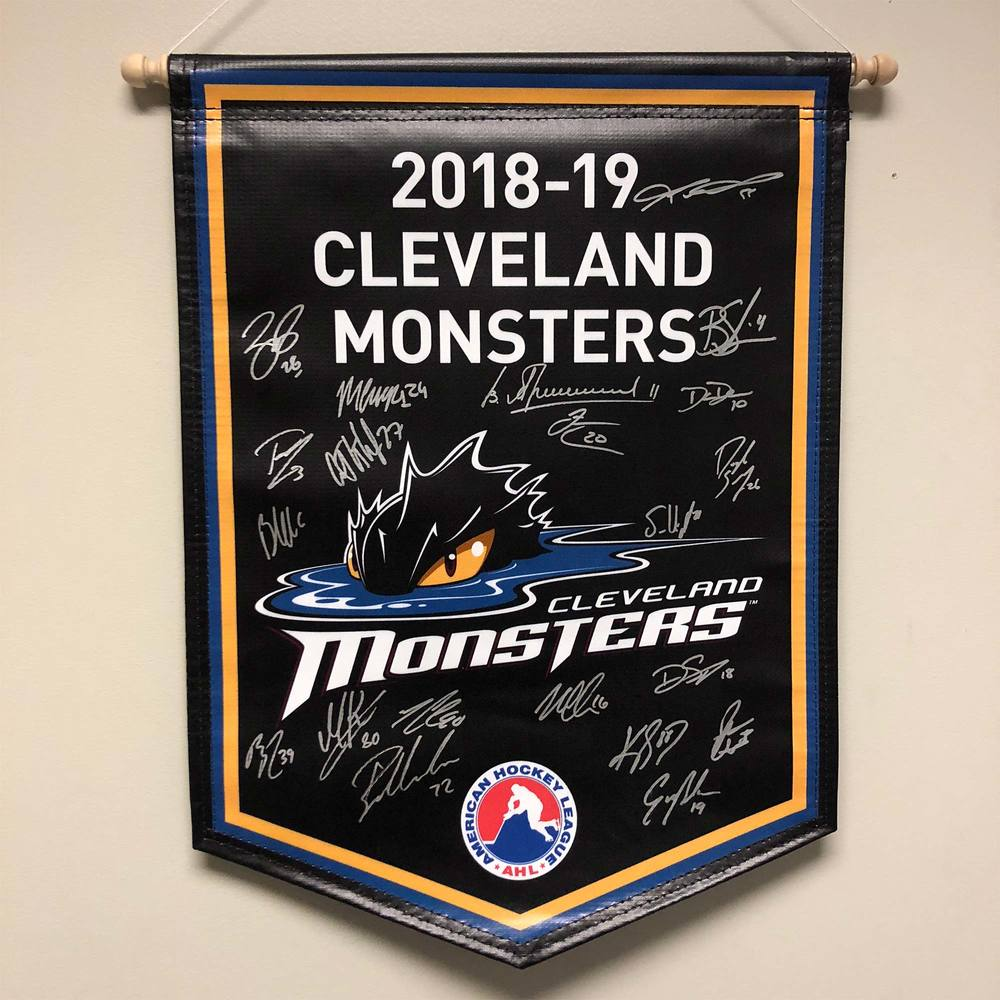 2018-19 Cleveland Monsters Team-Signed Banner