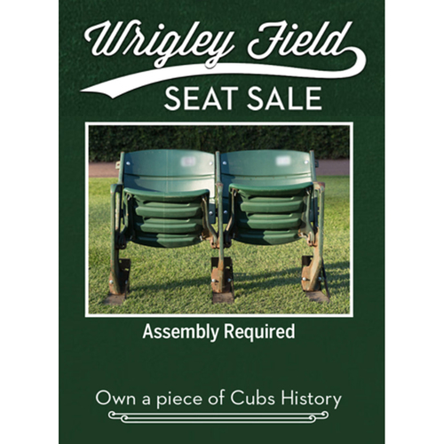 Photo of Wrigley Field Seat Sale -- Seat Set Removed During the 2018 Offseason (WILL NOT SHIP BEFORE HOLIDAYS)