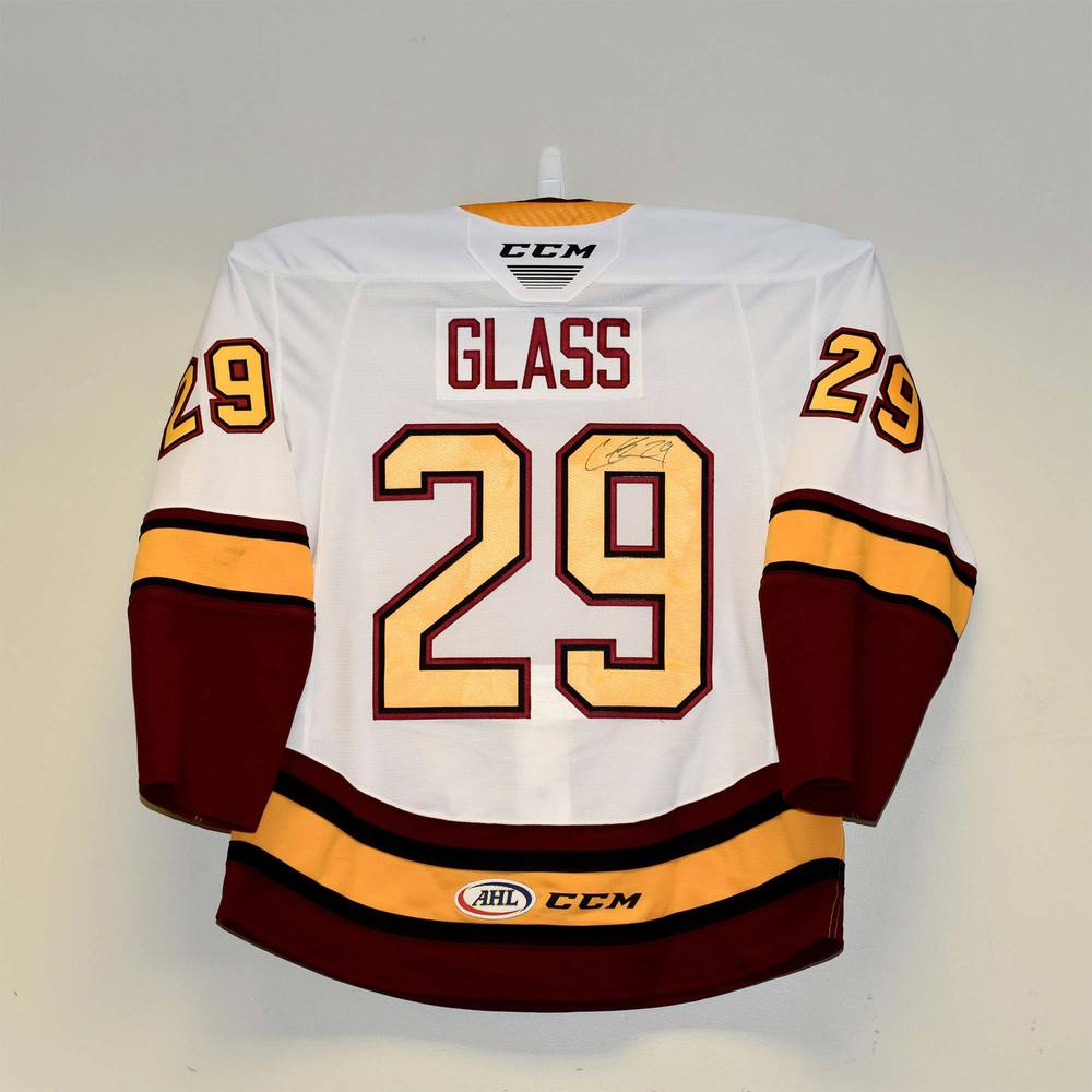 Chicago Wolves 2019 Calder Cup Finals Game 1 Jersey Worn and Signed by #29 Cody Glass