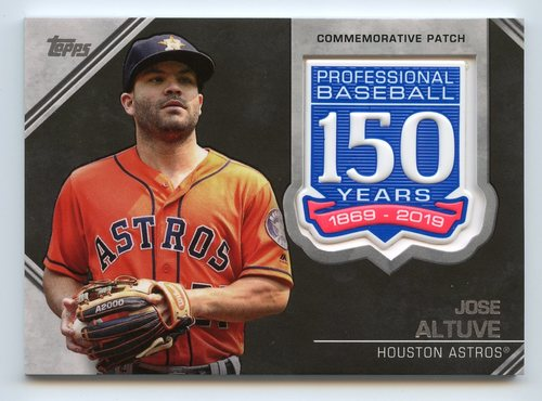 Photo of 2019 Topps 150th Anniversary Manufactured Patches #AMPJA Jose Altuve S2