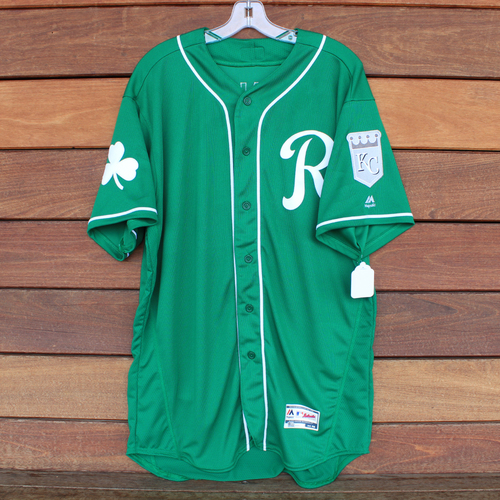 Photo of Game-Used Saint Patrick's Day Jersey: Ian Kennedy (KC @ SF - 3/17/19) (Size 48)