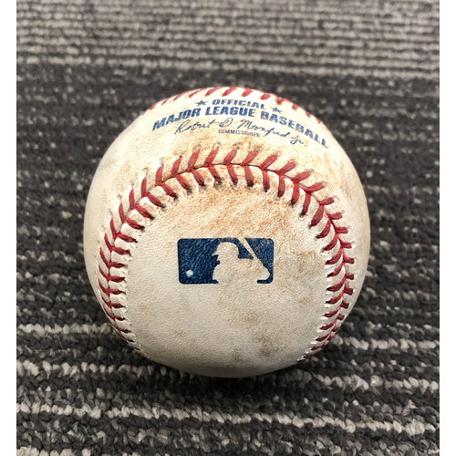 Photo of 2019 Game Used Baseball - 4/12/19 - SF vs COL - B-6: Bettis to Sandoval - Double to LF