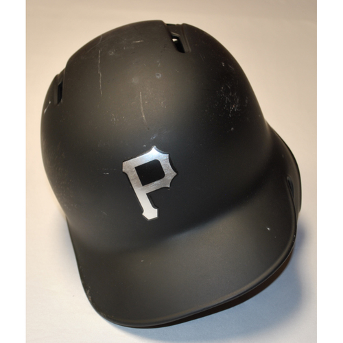 "Photo of Pablo ""TOMKIM"" Reyes Pittsburgh Pirates Game-Used 2019 Players' Weekend Helmet"