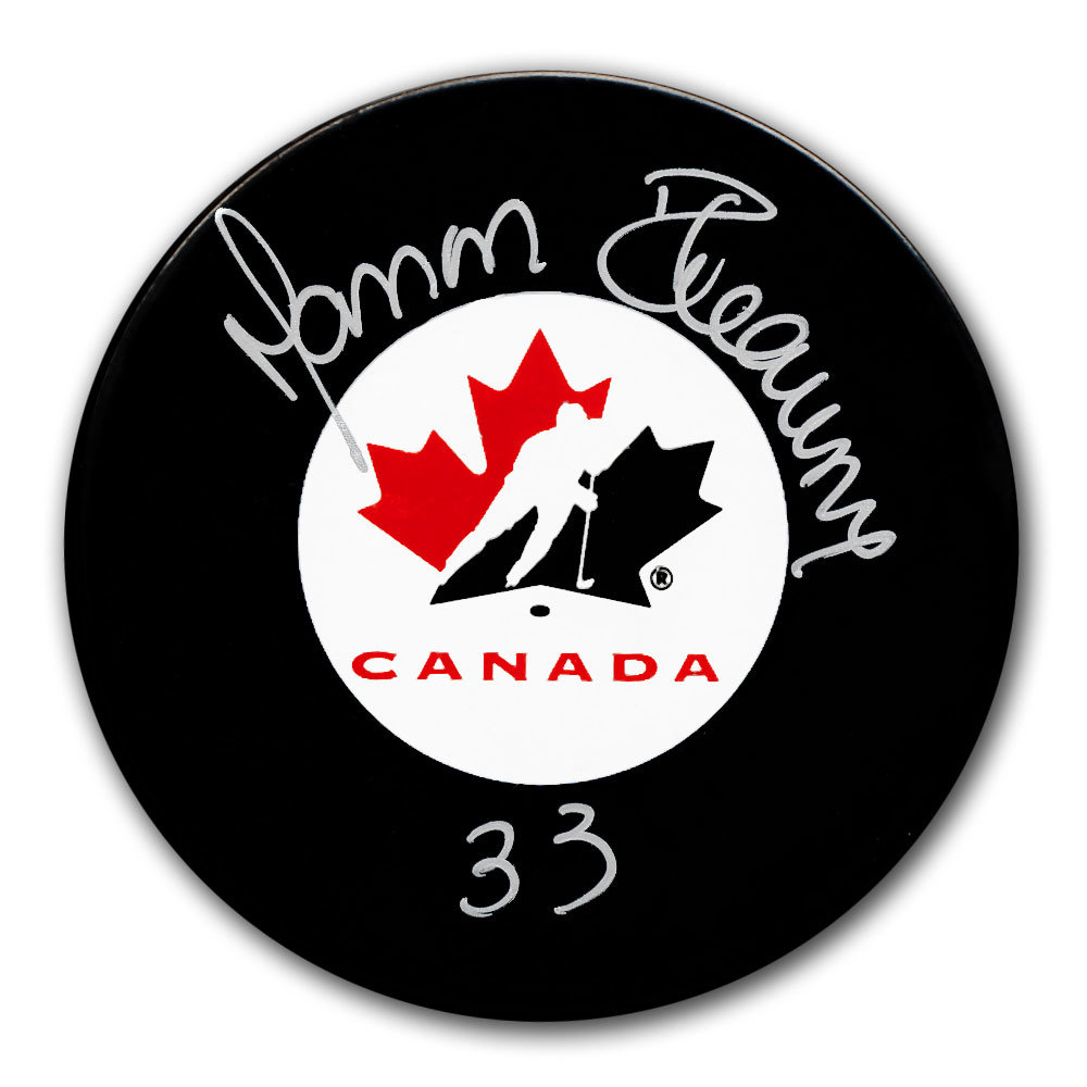 Manon Rheaume Team Canada Autographed Puck