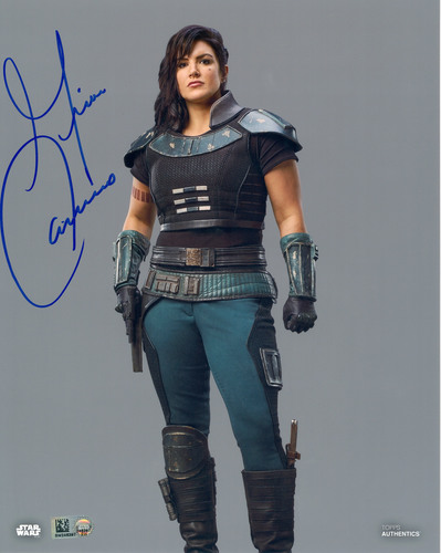 Gina Carano As Cara Dune 8X10 AUTOGRAPHED IN 'Blue' INK PHOTO