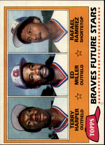 Photo of 1981 Topps #192 Terry Harper RC/Ed Miller RC/Rafael Ramirez RC