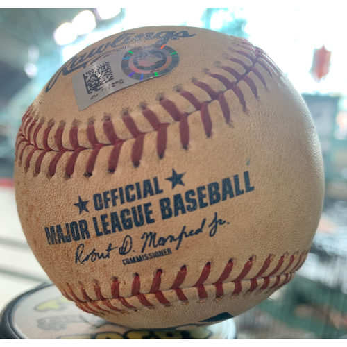 Photo of 2019 Game-Used Baseball 5/11/19 Astros vs. Rangers: Drew Smyly to George Springer (Double to LF) -Bottom 3rd