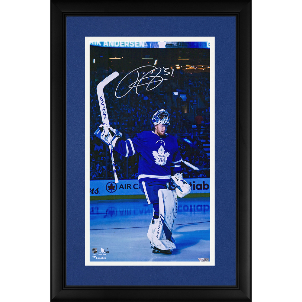 Frederik Andersen Toronto Maple Leafs Framed Autographed 10