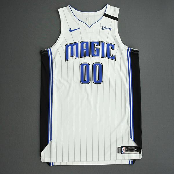 Image of Aaron Gordon - Orlando Magic - Game-Worn Association Edition Jersey - Recorded a Double-Double - 2019-20 NBA Season Restart with Social Justice Mes...