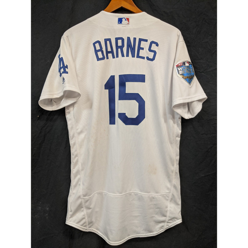 Austin Barnes Game-Used Home 2018 World Series Jersey