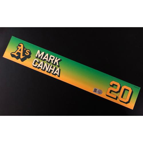 Photo of Game-Used 2020 Season Locker Nameplate - Mark Canha