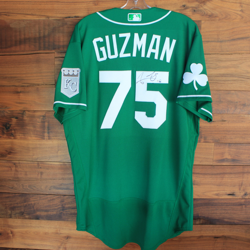 Photo of Autographed 2020 St. Patrick's Day Jersey: Jeison Guzman #75 - Size 46
