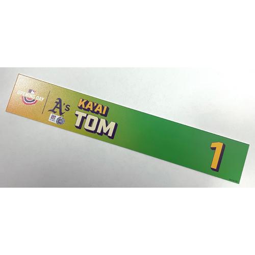 Photo of Game-Used 2021 Opening Day Locker Nameplate - Ka'ai Tom