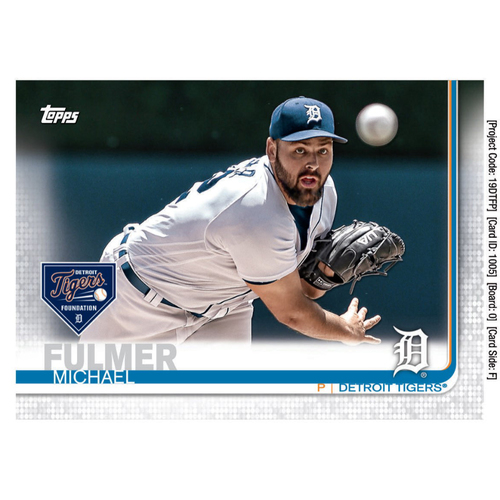 Photo of Autographs for a Cause: Michael Fulmer Autographed Limited Edition 2019 Topps Detroit Tigers Baseball Card