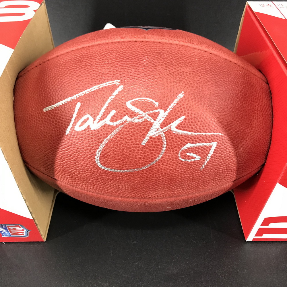 NFL - Bills Takeo Spikes Signed Authentic Football