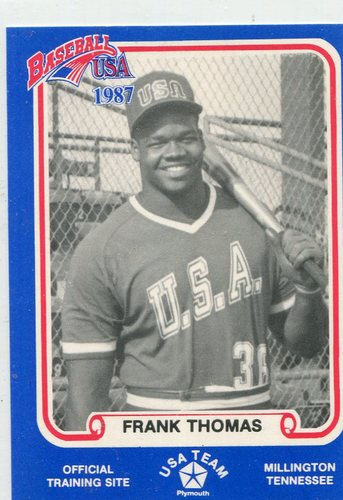 Photo of 1987 Pan Am Team USA Blue BDK #36 Frank Thomas