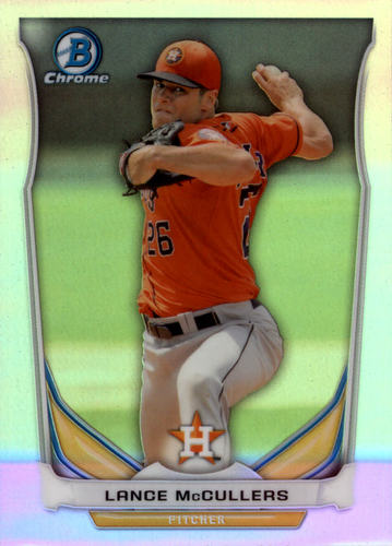 Photo of 2014 Bowman Chrome Draft Top Prospects Refractors #CTP36 Lance McCullers