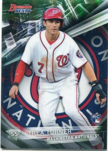 Photo of 2016 Bowman's Best Green Refractors #58  38/99 Trea Turner