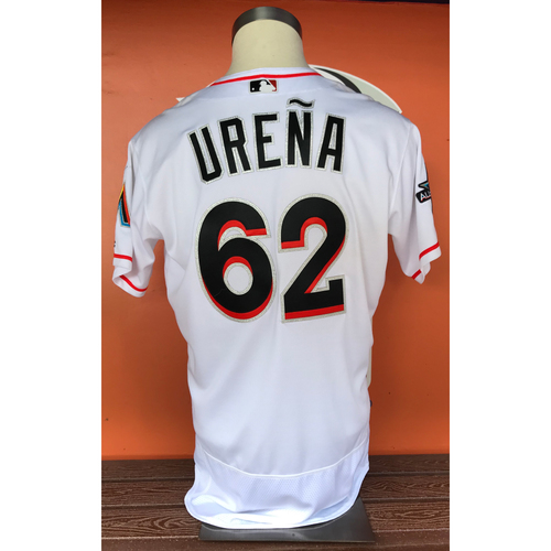 Photo of Jose Ureña 2017 Home Opener Game-Used Jersey - Size 46