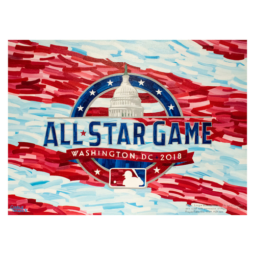 "Photo of 2018 MLB All Star Game 30"" x 40"" Gallery Wrapped Original Painting by Charlie Turano III"