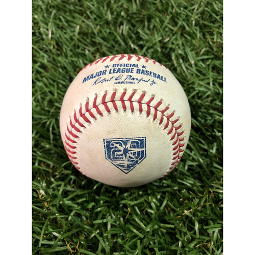 Photo of 20th Anniversary Game Used Baseball: Luis Severino strikes out Jesus Sucre - July 23, 2018 v NYY