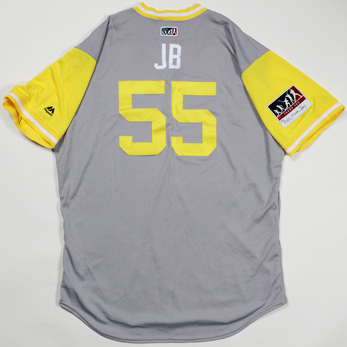 "Photo of Josh ""JB"" Bell Pittsburgh Pirates Game-Used Jersey 2018 Players' Weekend Jersey"