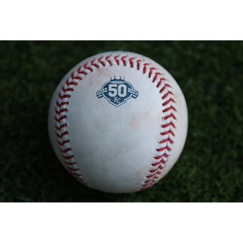 Photo of Game-Used Baseball: Ronald Guzman 39th Career Hit (TEX @ KC - 6/19/18)
