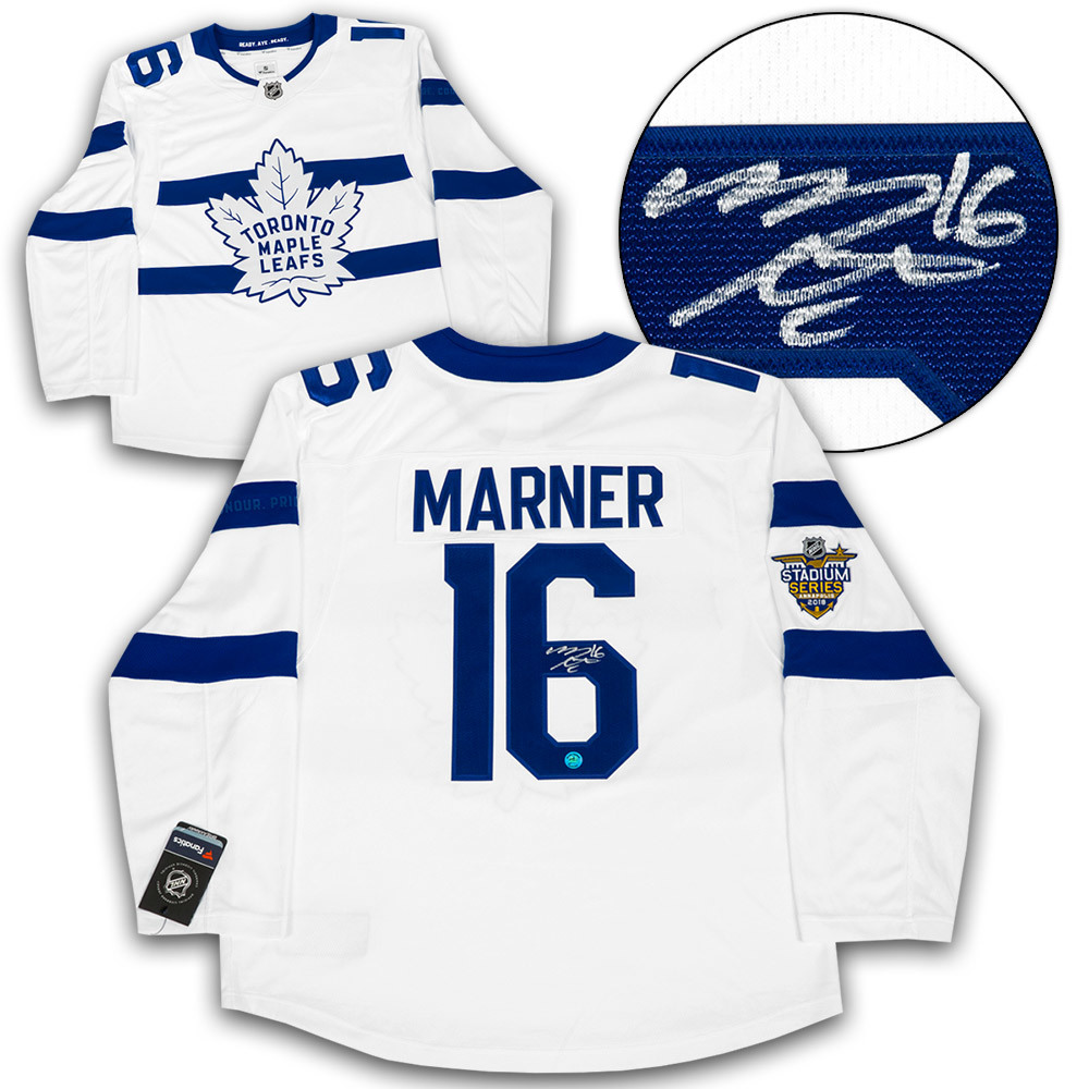 Mitch Marner Toronto Maple Leafs Signed Stadium Series Fanatics Replica Jersey