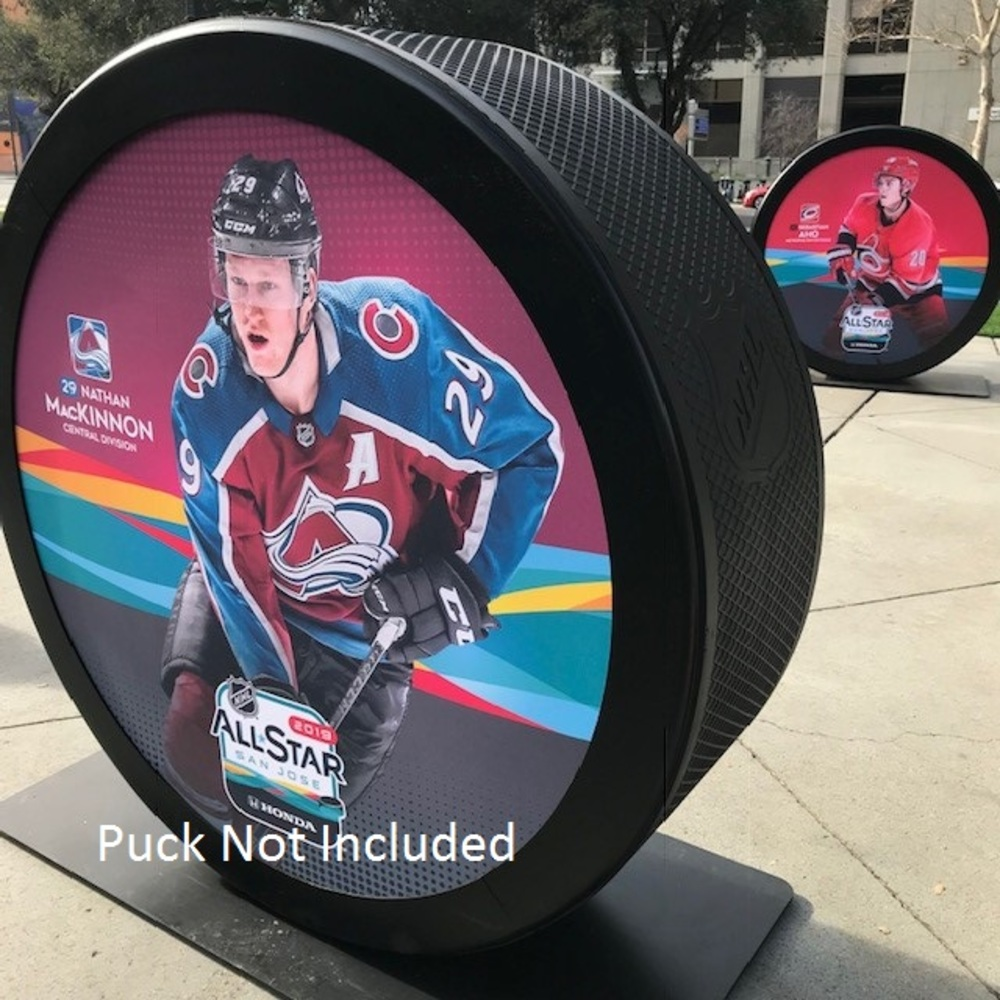 2019 NHL All Star Game Banner Featuring Nathan MacKinnon (Colorado Avalanche)
